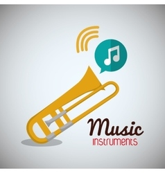 Trumpet music sound instrument vector