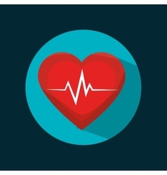 Icon cardiology sport health design vector