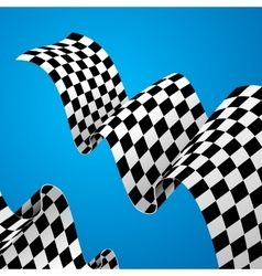 Racing Flag Background vector image