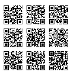 Set of abstract qr codes vector