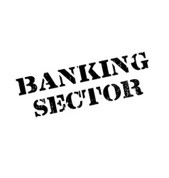 Banking sector rubber stamp vector
