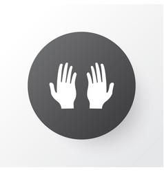 Pray icon symbol premium quality isolated palm vector