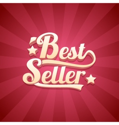 3D Bestseller Retro Background vector image
