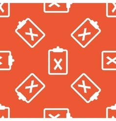 Orange clipboard no pattern vector