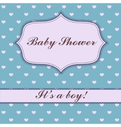 Background with hearts baby shower vector