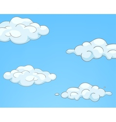 Cartoon nature sky clouds vector
