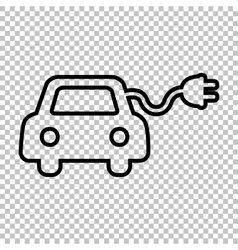 Eco electrocar sign vector