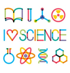 Trendy multiply science icons vector image