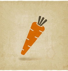 Carrot icon old background vector