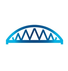 Arched Bridge vector image