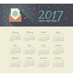 Calendar 2017 year with christmas letter vector