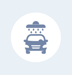 Car wash icon isolated on white vector