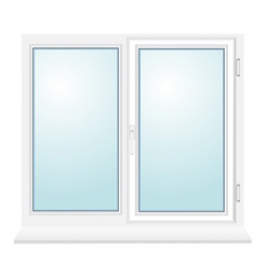 Closed plastic glass window illustration vector