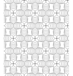 Clover leafs black and white abstract seamless vector image