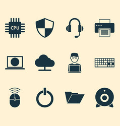 Computer icons set collection of computer mouse vector