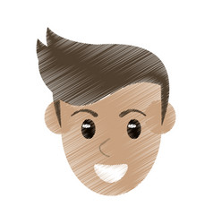 Drawing face man male avatar image vector