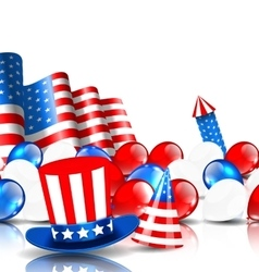 Festive Background in American National Colors vector image