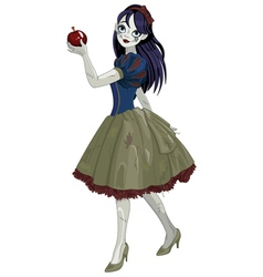 Halloween Snow White vector image vector image
