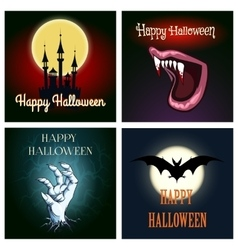 Halloween Theme Set vector image vector image