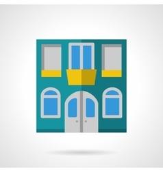 House facade flat color icon vector image vector image