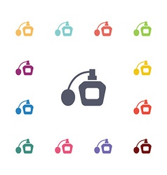 Parfume flat icons set vector