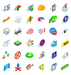 Resolution icons set isometric style vector