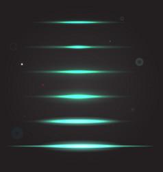 set of glowing light effect vector image vector image