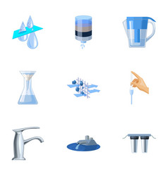 Set of icons on the theme of water water is the vector