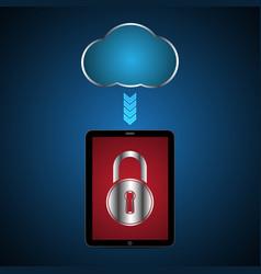 Technology digital cyber security tablet lock vector