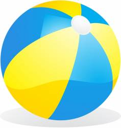 Yellow and blue beach ball vector