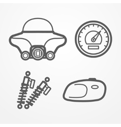 Classic motorcycle icons vector