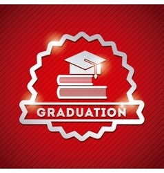 Congratulations grad celebration card vector