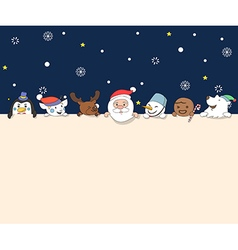 Christmas character holding board vector