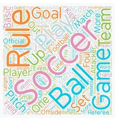 Basic soccer rules text background wordcloud vector