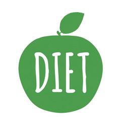 diet label vector image