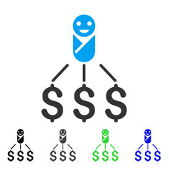 Newborn expenses flat icon vector