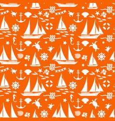 Orange summer seamless pattern vector