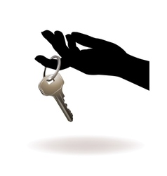 Hand Holding Key vector image