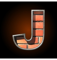 Brick cutted figure j vector