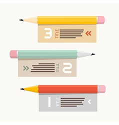 Paper Infographics Layout with Pencils vector image