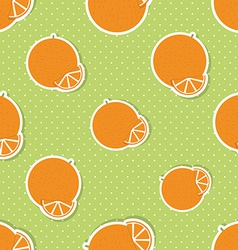 Oranges pattern seamless texture with ripe oranges vector