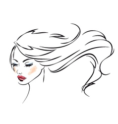 Beauty portrait vector