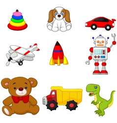 Kids toy collection vector
