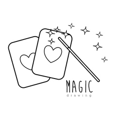 Magic graphic design vector