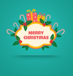 Christmas banner with gifts vector