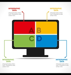 Creative computer info-graphics design concept vector