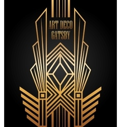 Art deco element gatsby design vector