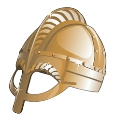 Ancient metal helmet from sparta vector