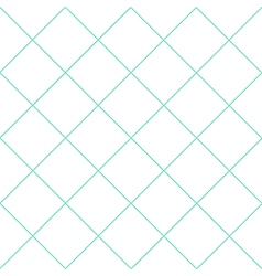 Mint green grid white diamond background vector