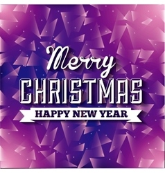 Purple polygonal background merry christmas vector